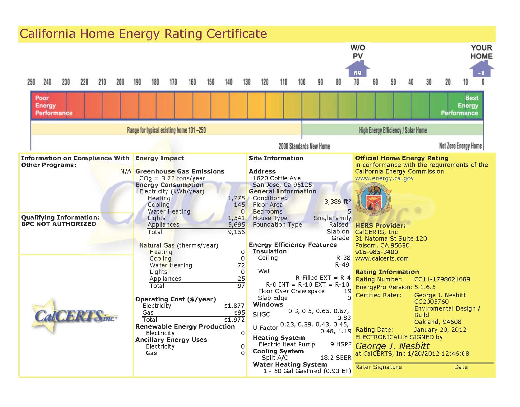 Cottle home energy rating certificate one sky homes cottle home energy rating certificate xflitez Gallery