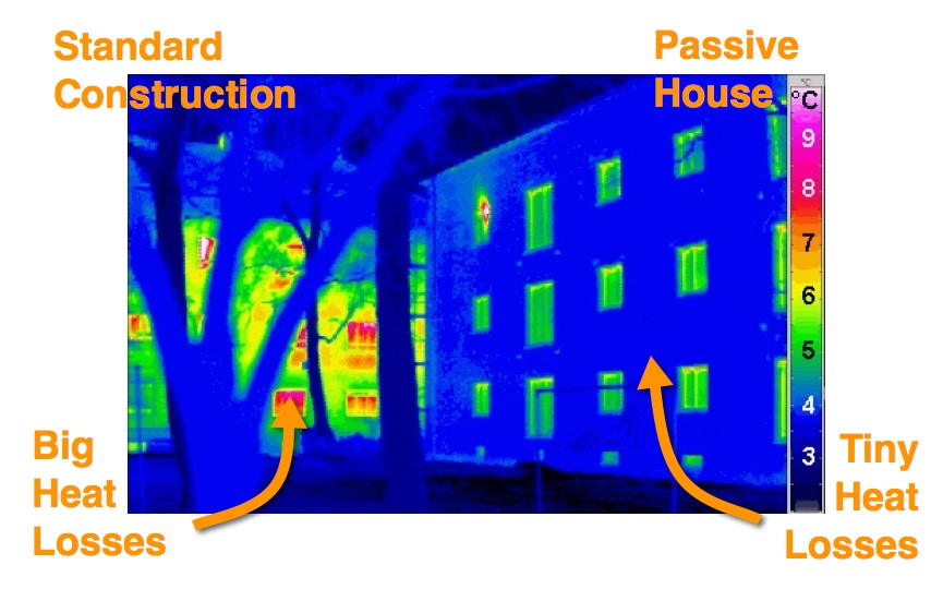 Passive House Thermal Image Comparison